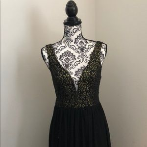Gold and Black sequins gown